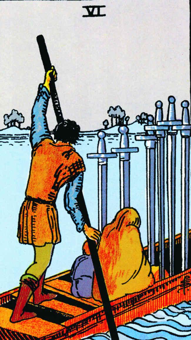 6 мечей (младший аркан Таро): значение карты в прямом и перевернутом виде