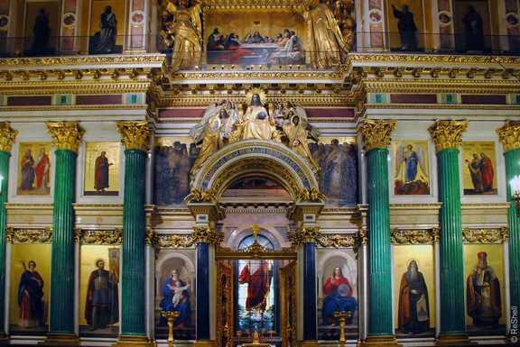 Малахитовые колонны в Исаакиевском соборе
